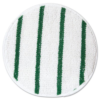 MOP CARPET BONNET GREEN/WHITE 17 IN.