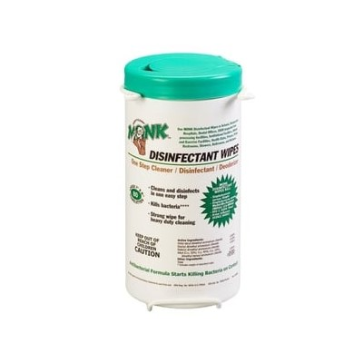 MONK DISINFECTANT WIPES 80 EA 6/CS.