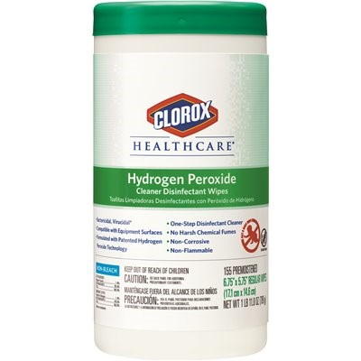 WIPES HYDROGEN PEROXIDE 6-155 SHEETS/CS
