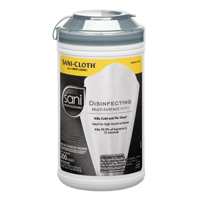 DISINFECT MULTISURFACE WIPES 200/CN 6/CS