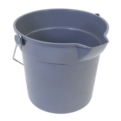 BUCKET 10 QT. GREY