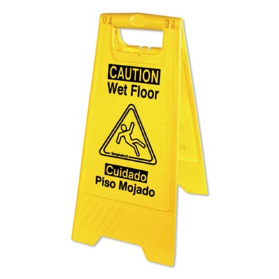 MOP  WET FLOOR SIGN  W/SPAN. YELLOW