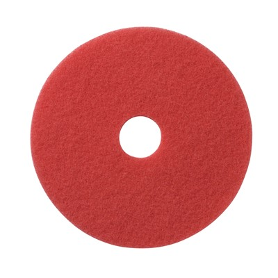 PAD FLOOR 20IN RED SPRAY/BUFF 5/CS