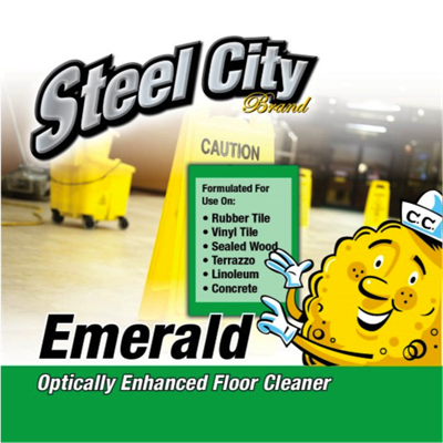 STEEL EMERALD FLOOR CLEAN 4 GL/CS.